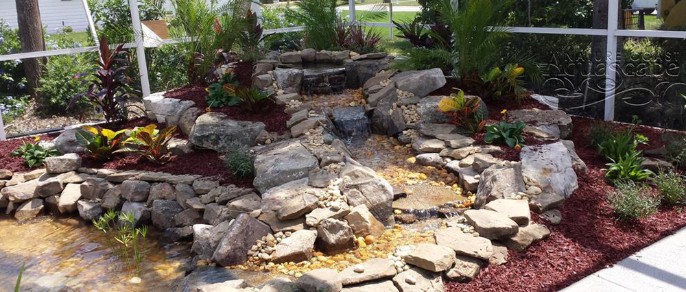 water gardens aquascapes ponds installation waterfalls lake