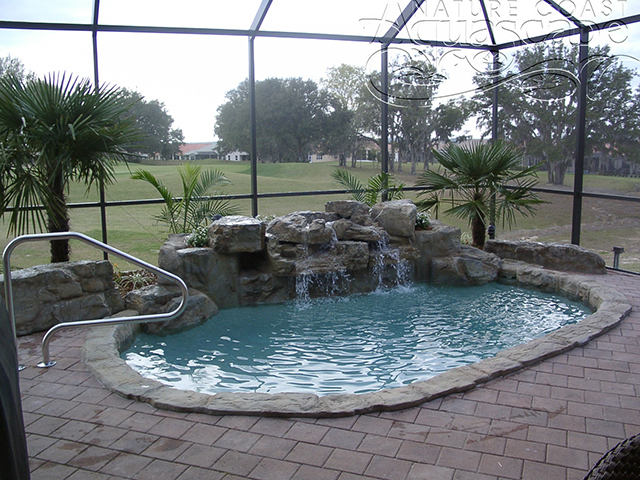 when installed properly your waterfall will become a permanent fixture like any other concrete product - Pool Waterfalls
